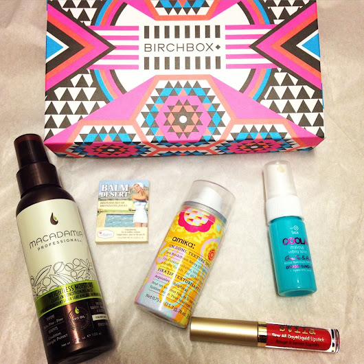 THE CLUTTERED COUNTER: July 2015 Birchbox: GO BOLD