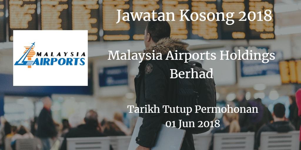 Jawatan Kosong MAHB 01 Jun 2018
