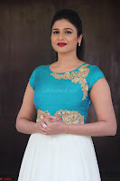 Anjena Kirti in Green and white Anarkali Dress Cute Makeup Latest Pics 017.JPG