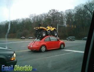 email divertido fail rir lol humor beetle carocha moto 4
