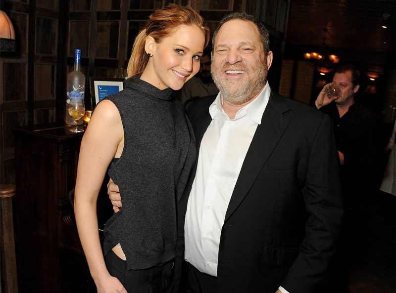 Jennifer Lawrence niega haberse acostado con Harvey Weinstein