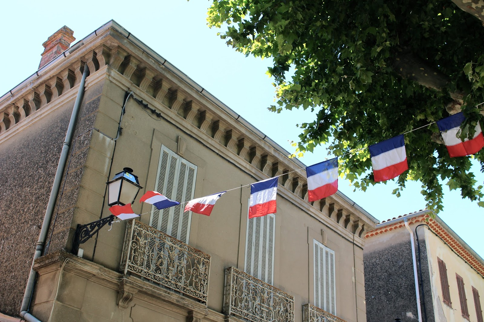 Collobrieres tourism french flags