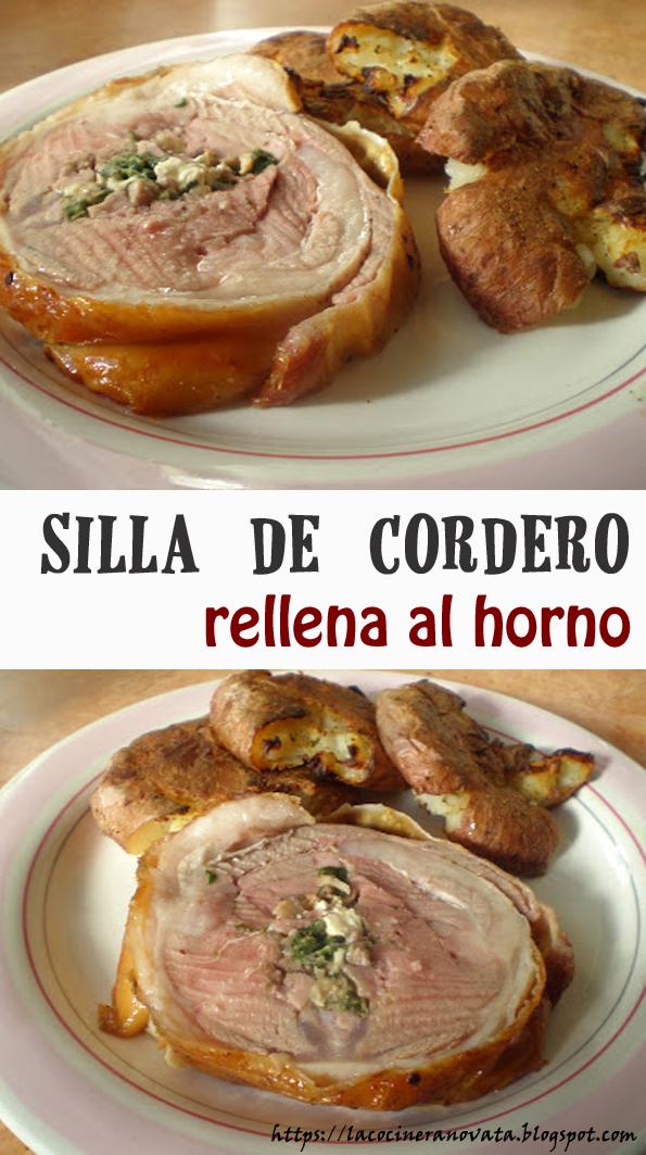 SILLA DE CORDERO RELLENA AL HORNO la cocinera novata receta cocina gastronomia carne