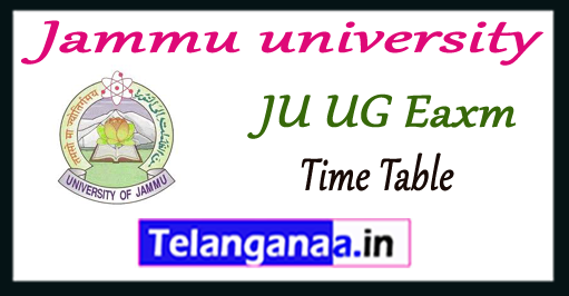 Jammu university exam 1st 2nd 3rd Time Table 2017-18