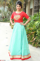 Lucky Shree Looks super cute in Bright Red Green Anarkali Dress ~  Exclusive 027.JPG