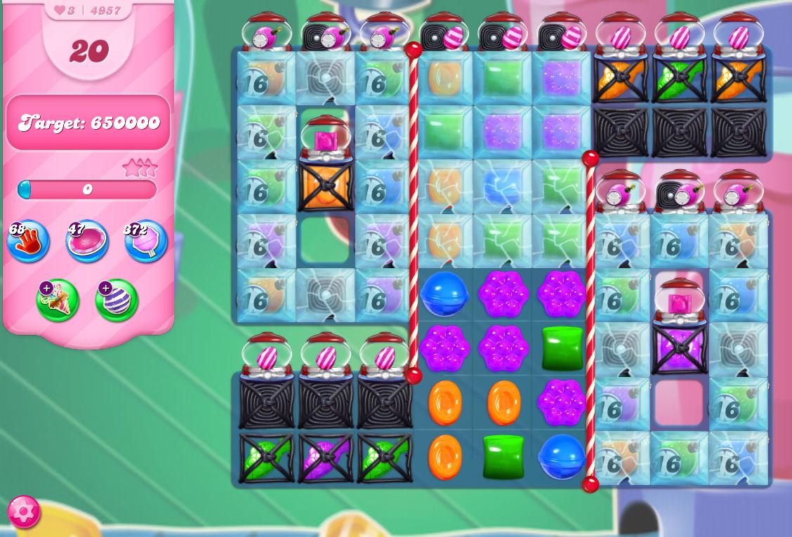 Candy Crush Saga level 4957