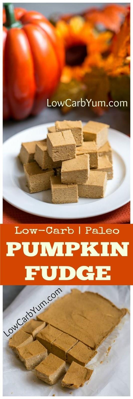 Easy Pumpkin Fudge Recipe - Paleo