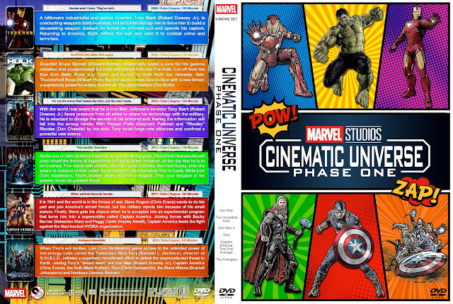 Marvel Studios Cinematic Universe - Phase One DVD Cover