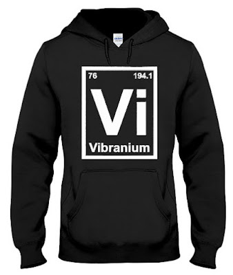 Periodic Element Vibranium Metal Graphic Hoodie Sweatshirt