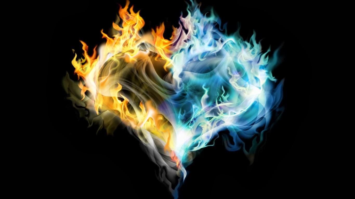 Hd Wallpapers Blog: Fire Heart Wallpapers