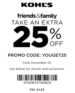 Kohl's coupon 25% off any purchase