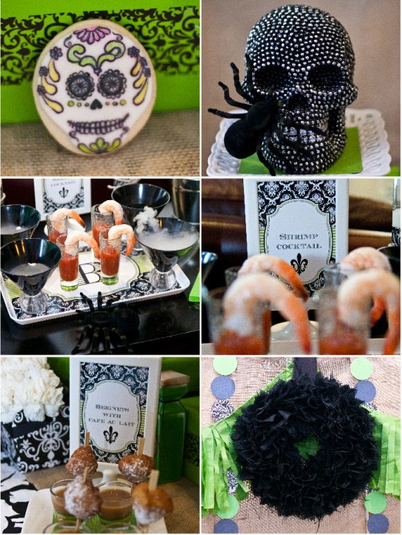A Spellbinding Green & Black Halloween Cocktail Party ...