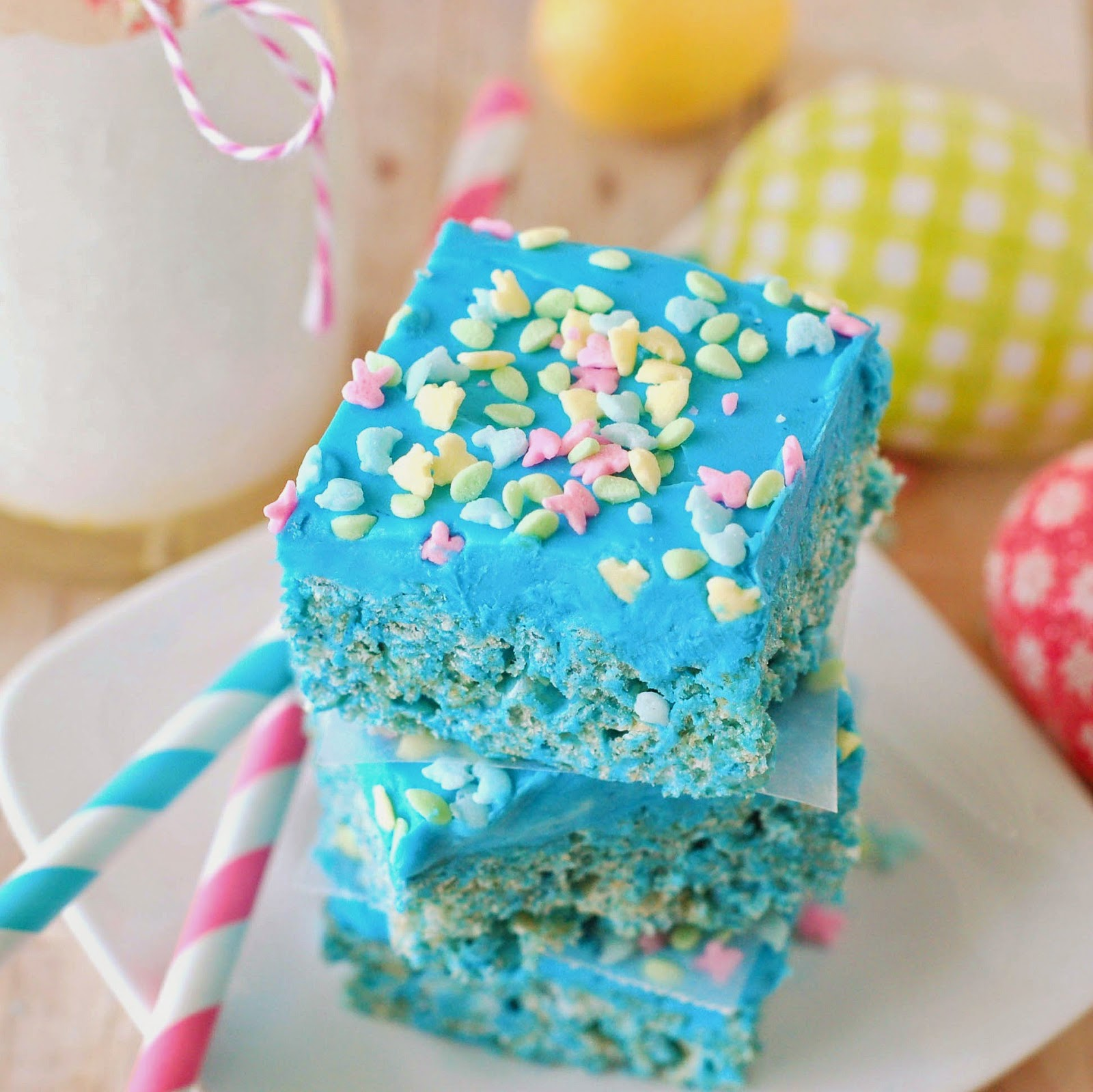 Blue Raspberry Rice Krispies by The Sweet Chick