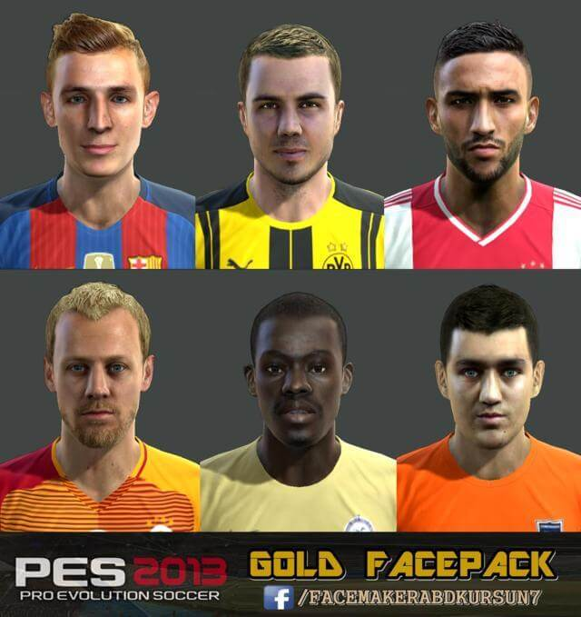 Pes 2019 Faces Lucas Moura By Hugimen: Gold Facepack 2016 - PES 2013 - PATCH PES