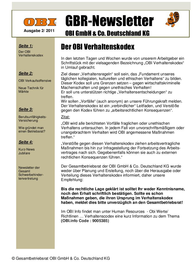 überwachen der mitarbeiter verhaltenskodex