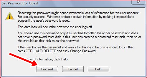how to change computer log in password not now to real password