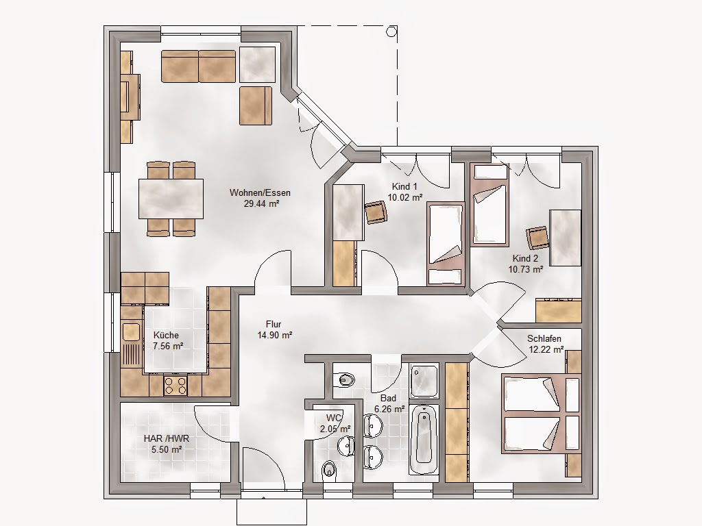 einfacher grundriss grundriss zeichnen. Black Bedroom Furniture Sets. Home Design Ideas