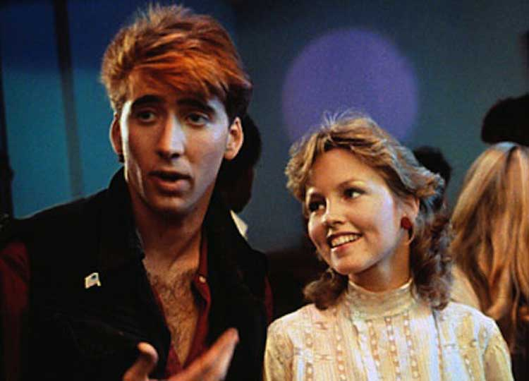 Deborah Foreman and Nicholas Cage strike up a love connection in Valley Girl.