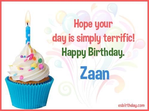 Zaan Happy Birthday