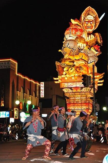 Tachi Nebuta (tall float), Goshogawara City, Aomori Pref.