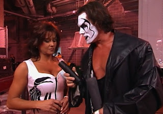 WCW Starrcade 1999 - Sting was on to Elizabeth trying to swerve him