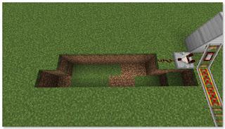 Minecraft 高速トロッコ輸送 アイテム積み込み駅作り方④