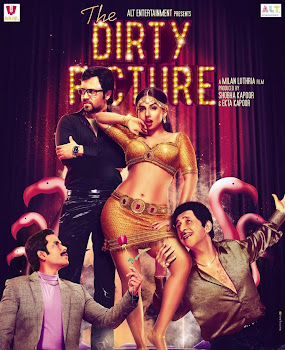 Poster Of Bollywood Movie The Dirty Picture 2011 300MB BRRip 720P Full Hindi Movie365.in
