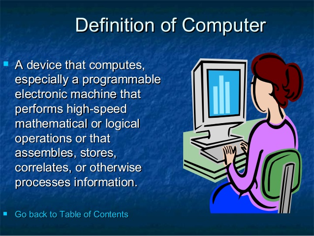 define term computer also describe basic five operations performed by computer Computers can perform actions based on the results of the comparisonthis is a very important capabilitythis by comparing the computer can say, for memory is also known as primary storage, main memory, internal storage, main memory, and ram (random access memory) all these terms.
