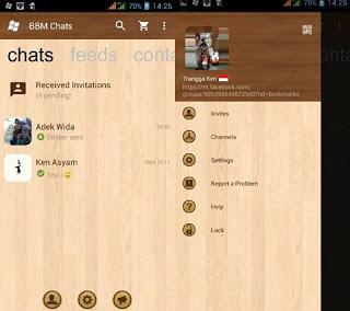 BBM MOD Wood v3.0.1.25 APK Terbaru Natural Edition
