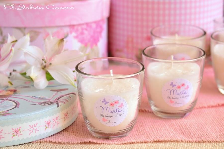 Detalles de bautizo velas aromaticas naturales