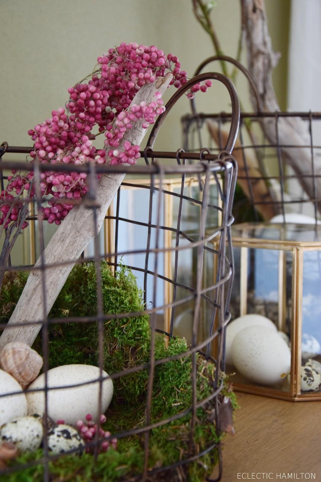 warum wird an ostern immer weniger dekoriert oder nat rliche osterdeko mit mrs eclectic. Black Bedroom Furniture Sets. Home Design Ideas