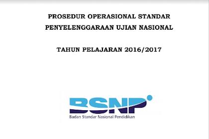 Prosedur Operasional Standar (POS) dan Kisi-Kisi UN 2017 Untuk SMK