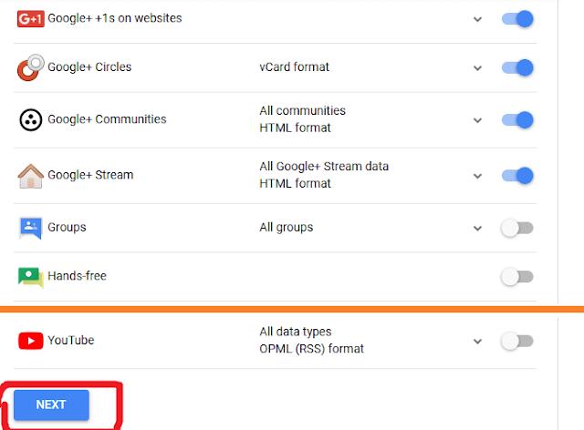 5. select google plus product