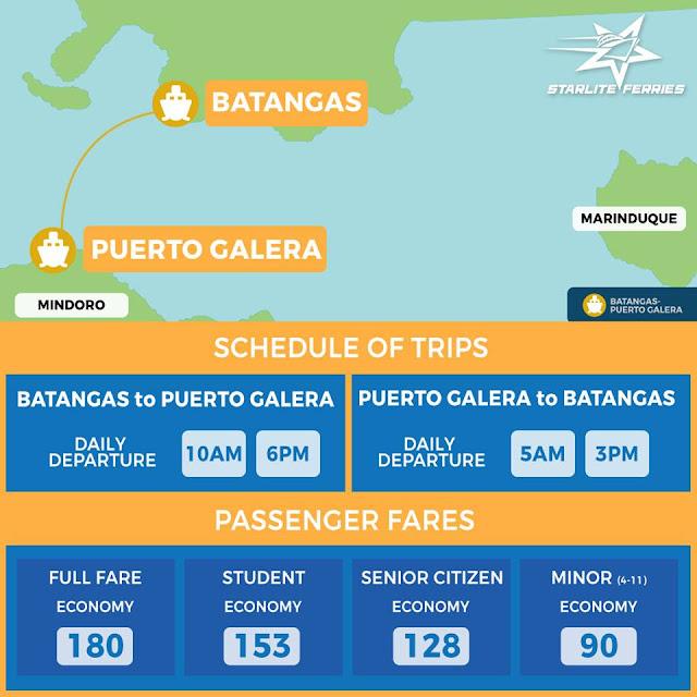 Batangas to Puerto Galera boat schedule via starlite ferries