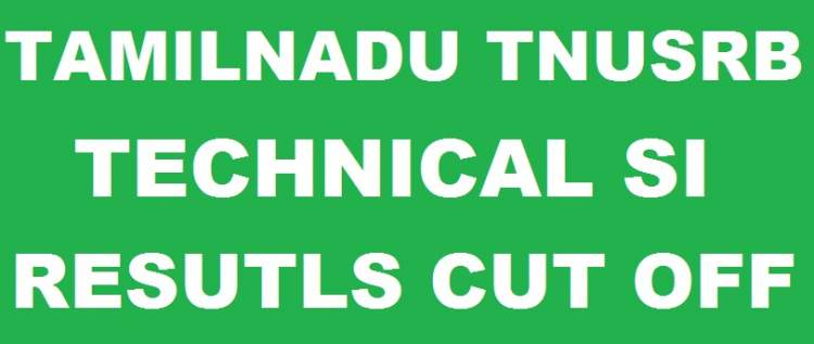 TNUSRB SI Technical Results 2018