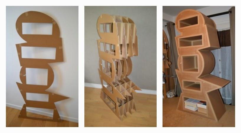 diy meuble carton. Black Bedroom Furniture Sets. Home Design Ideas