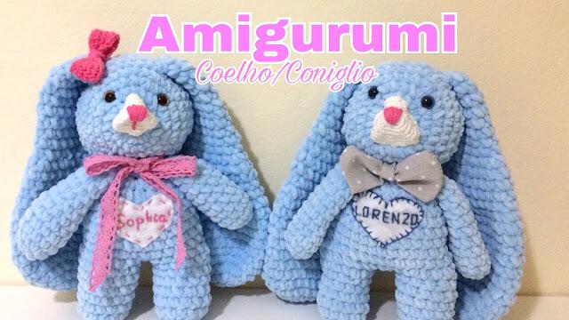 Coelhinho de crochê amigurumi com receita - Como Faço 7368364078d