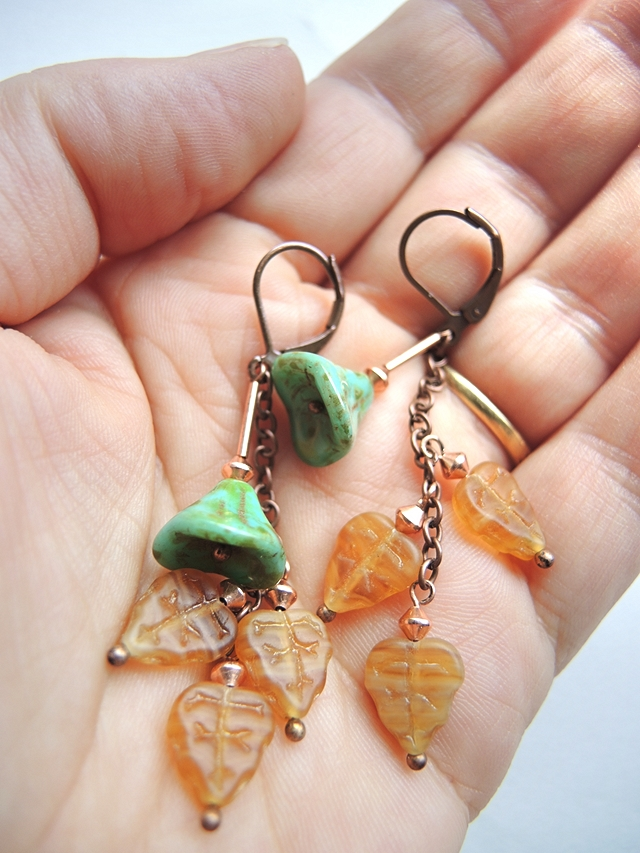free autumn earrings tutorial diy
