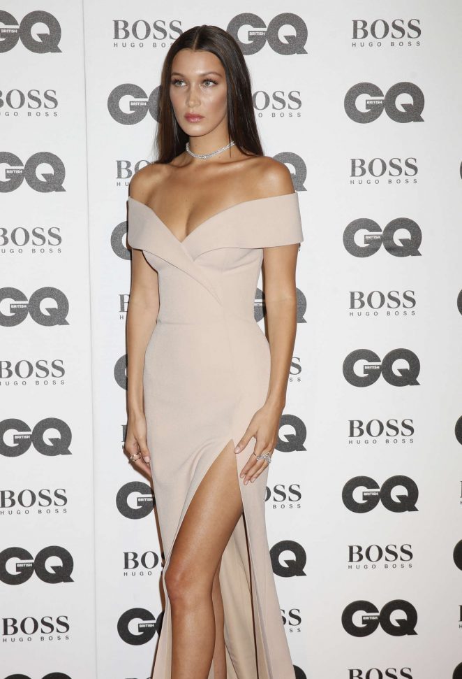 Bella Hadid bares skin and curves at the GQ Men of the Year Awards 2016