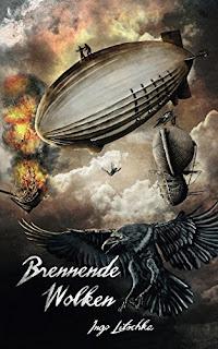 Sina Holste Cover für brennende Wolken, für Band 2 der Fantasy serie Gil Kayn  von Ingo Litschka