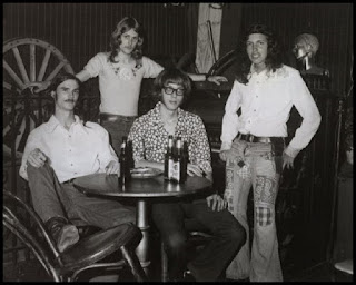 Members of Max Creek at The Rocking Horse in Hartford. This 1973 lineup featured (from left) drummer Bob Gosselin, guitarist Dave Reed, keyboardist Mark Mercier and bassist John Rider.