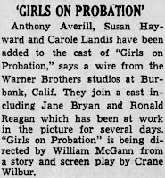 Carole Landis Girls On Probation