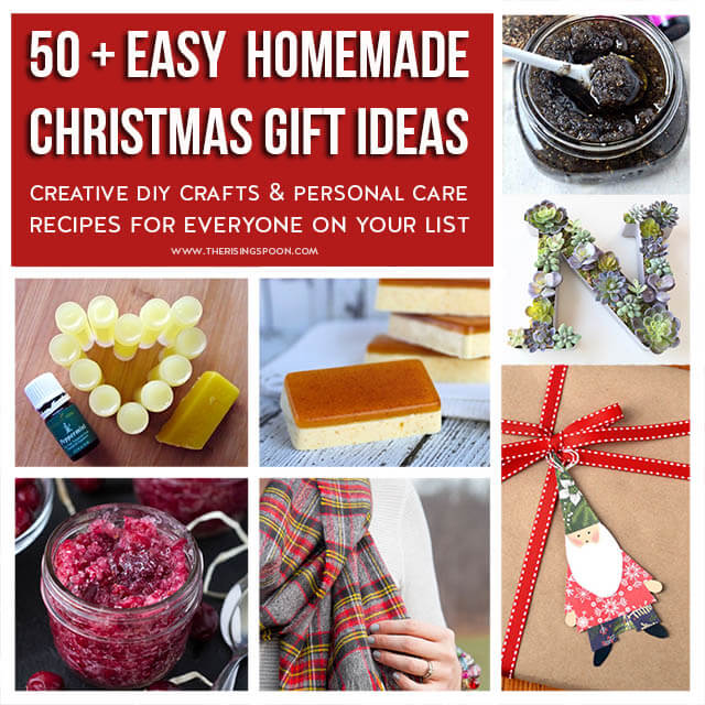 50+ Easy Homemade Christmas Gifts (Crafts, Beauty & Personal Care ...