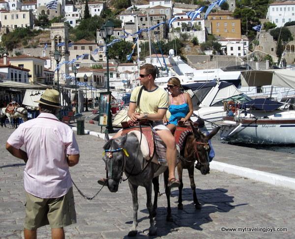hydra greece donkey