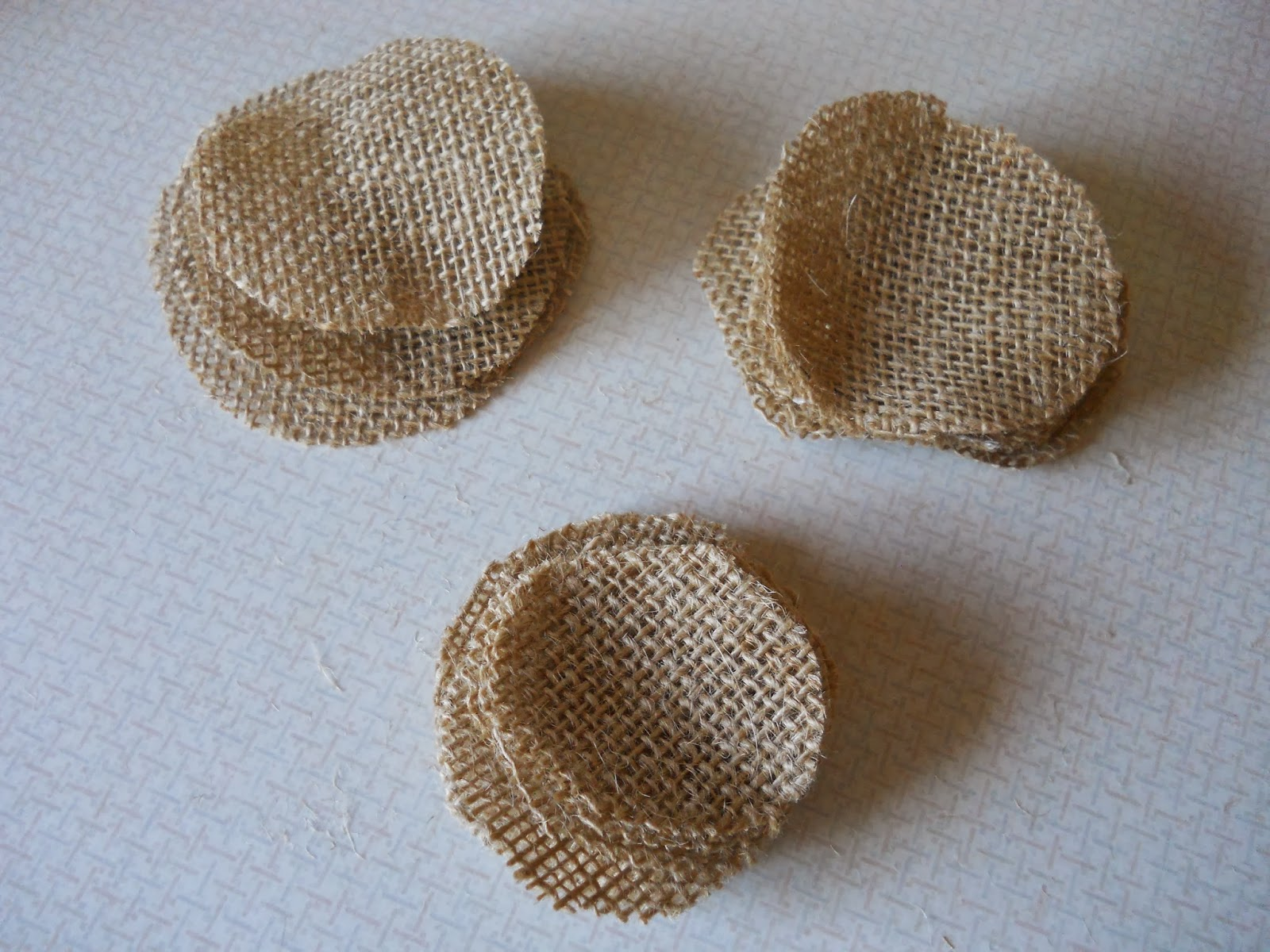 burlap flower template - dandelions and dust bunnies burlap flower magnets