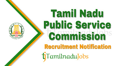 TNPSC Recruitment notification 2019, tn govt jobs, govt jobs for m.sc