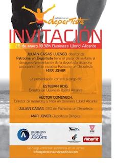 Patrocina un Deportista os invita a la presentación de la atleta Mar Jover en Alicante