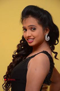 Actress Nakshatra Pictures in Black Long Dress at Miss South India 2016 Press Meet  0010.jpg