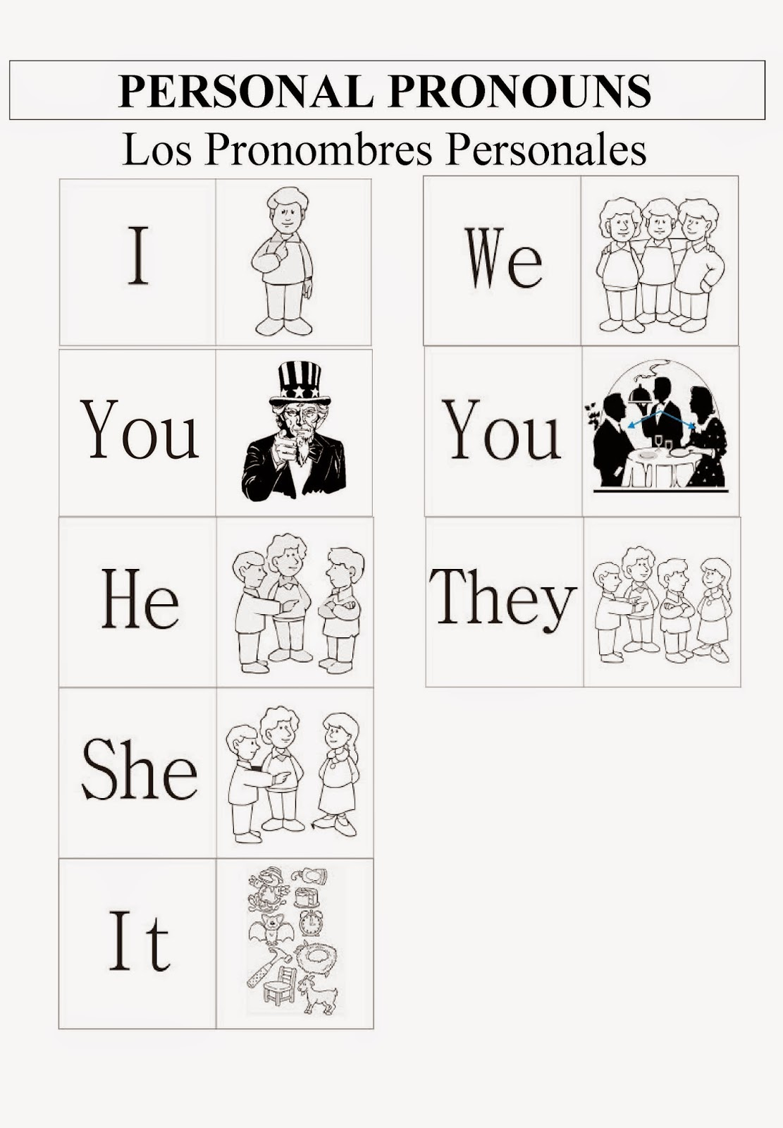 Fun Lessons Chuleta Personal Pronouns
