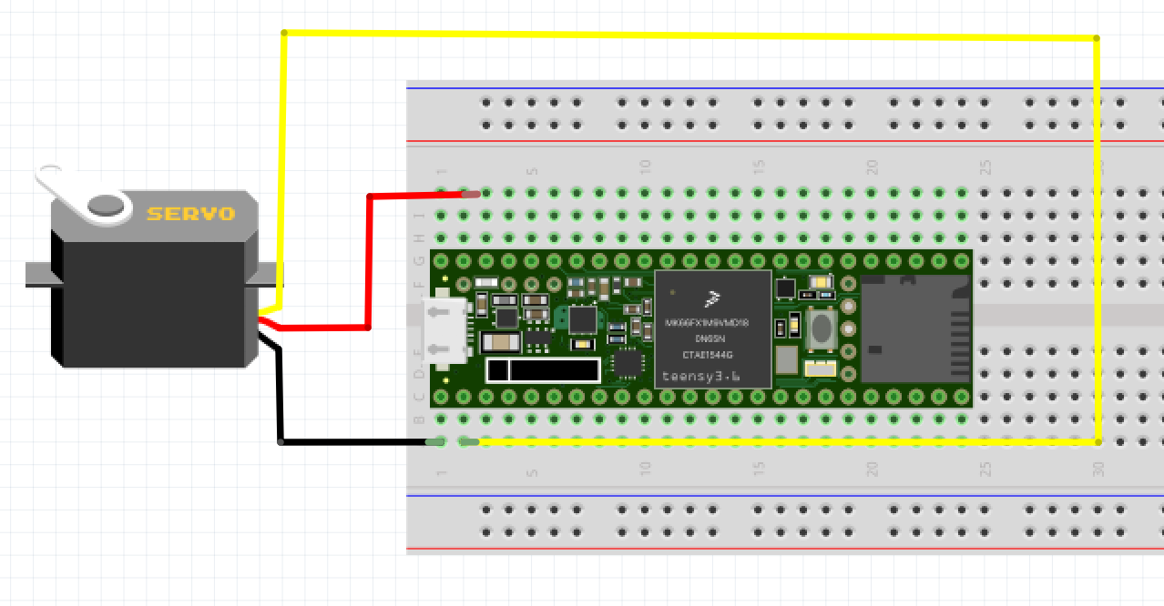 Little Scale Teensy 36 Basics Using Servo Motors Motor Diagram The Positive Terminal Of Power Supply Should Be Connected To Control Input A